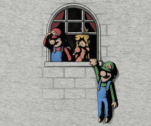 funny, gaming, and luigi image