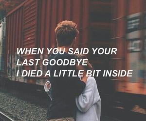 love, goodbye, and sad image