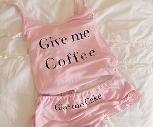 pink, fashion, and coffee image