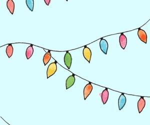 lights, christmas, and drawing image