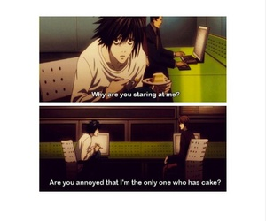 anime, cake, and death note image