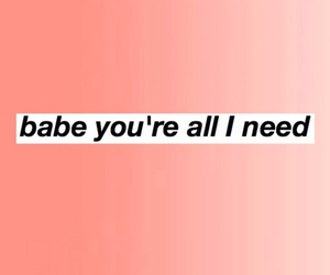 babe, pink, and text image