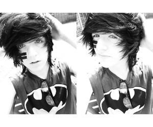 batman, emo love, and hairstyle image