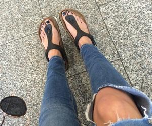 birkenstock, legs, and skinny image