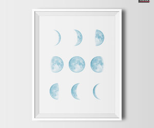 abstract art, etsy, and moon phases image