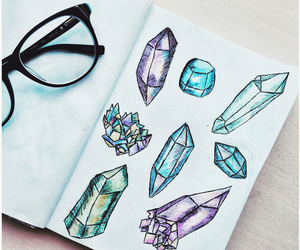 art, draw, and crystal image