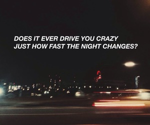 one direction, night changes, and Lyrics image
