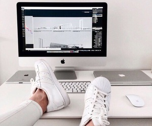 apple, adidas, and shoes image