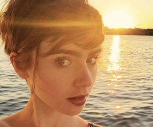 sunset, selfie, and lily collins image