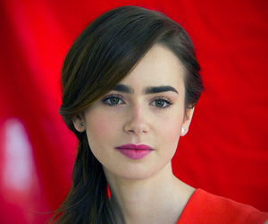 red and lily collins image