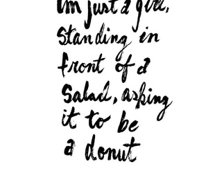 salad, standing, and donut image