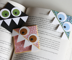 book, bookmark, and monster image
