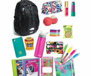 colourful, school stuff, and back to school image