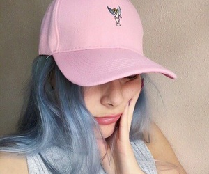 girl, pink, and blue image