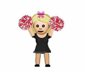 cheerleader and emoji image