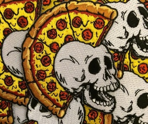 pizza, skull, and punk image