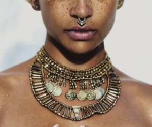 freckles, model, and piercing image