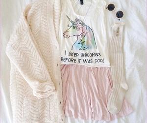 unicorn, fashion, and outfit image