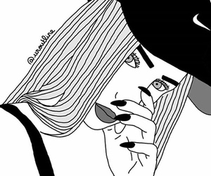 black, draw, and nike image