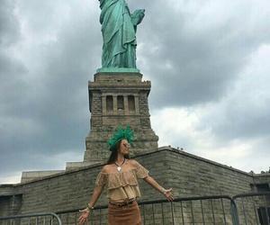 new york, nueva york, and estatua de la libertad image