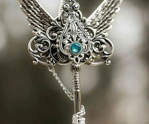 key, necklace, and wings image