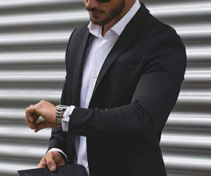 black and white, elegant, and boys image