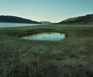nature, lake, and green image
