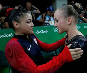 olympics, laurie hernandez, and sanne wevers image