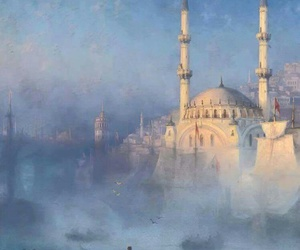 art, mosque, and ivan aivazovsky image