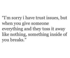 quotes and trust issues image