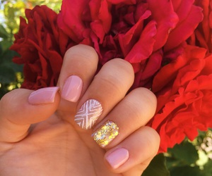 nails, red, and rouse image