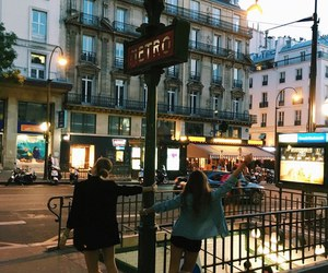 girl, city, and france image