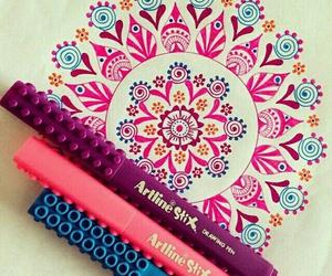 colors, mandala, and pink image