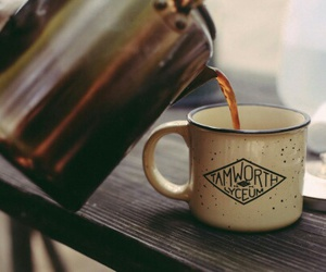 coffee, tea, and fall image