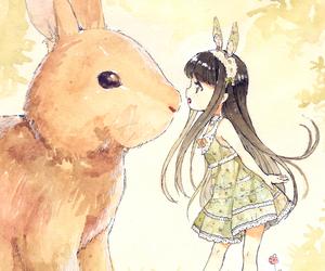 anime and bunny image