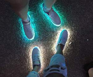 light, neon, and shoes image
