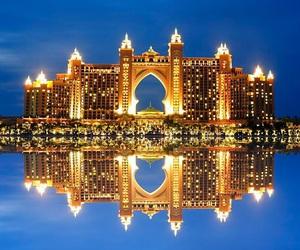 Dubai, water, and light image