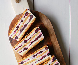 blueberry, cake, and curd image