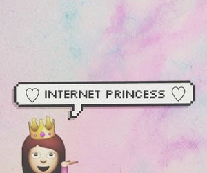 princess, internet, and emoji image