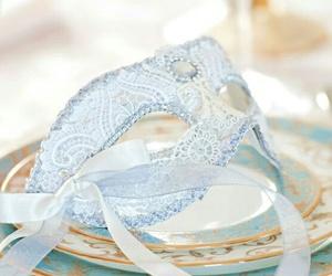 mask, beautiful, and blue image