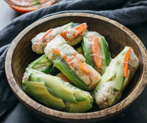 avocado, crab, and spring roll image