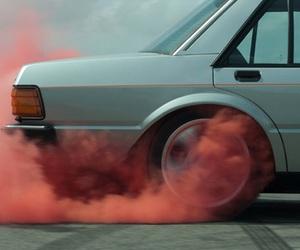 car, smoke, and vintage image