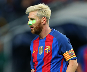 fc barcelona and lionel messi image