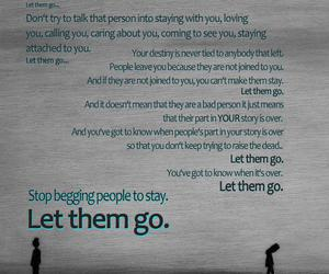 let go, text, and let them go image