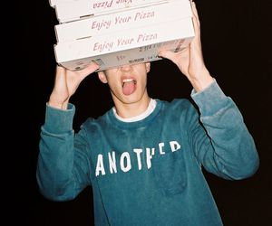 pizza, boy, and food image