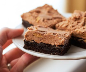 brownie, chocolate, and food porn image