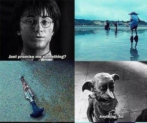 harry potter, dobby, and sad image