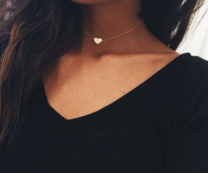 necklace, heart, and choker image