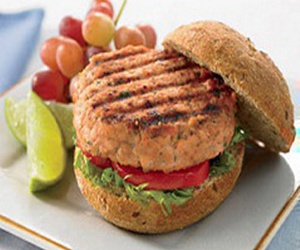 healthy, recipes, and salmon burgers image