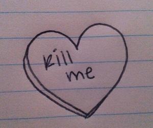 heart, kill, and sad image